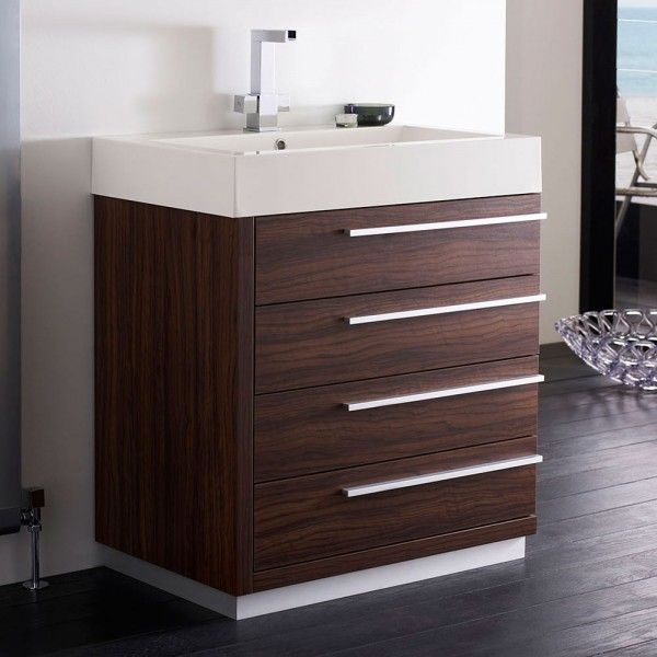 Array Wall Mounted Vanity Unit Wide Walnut Ideas For The