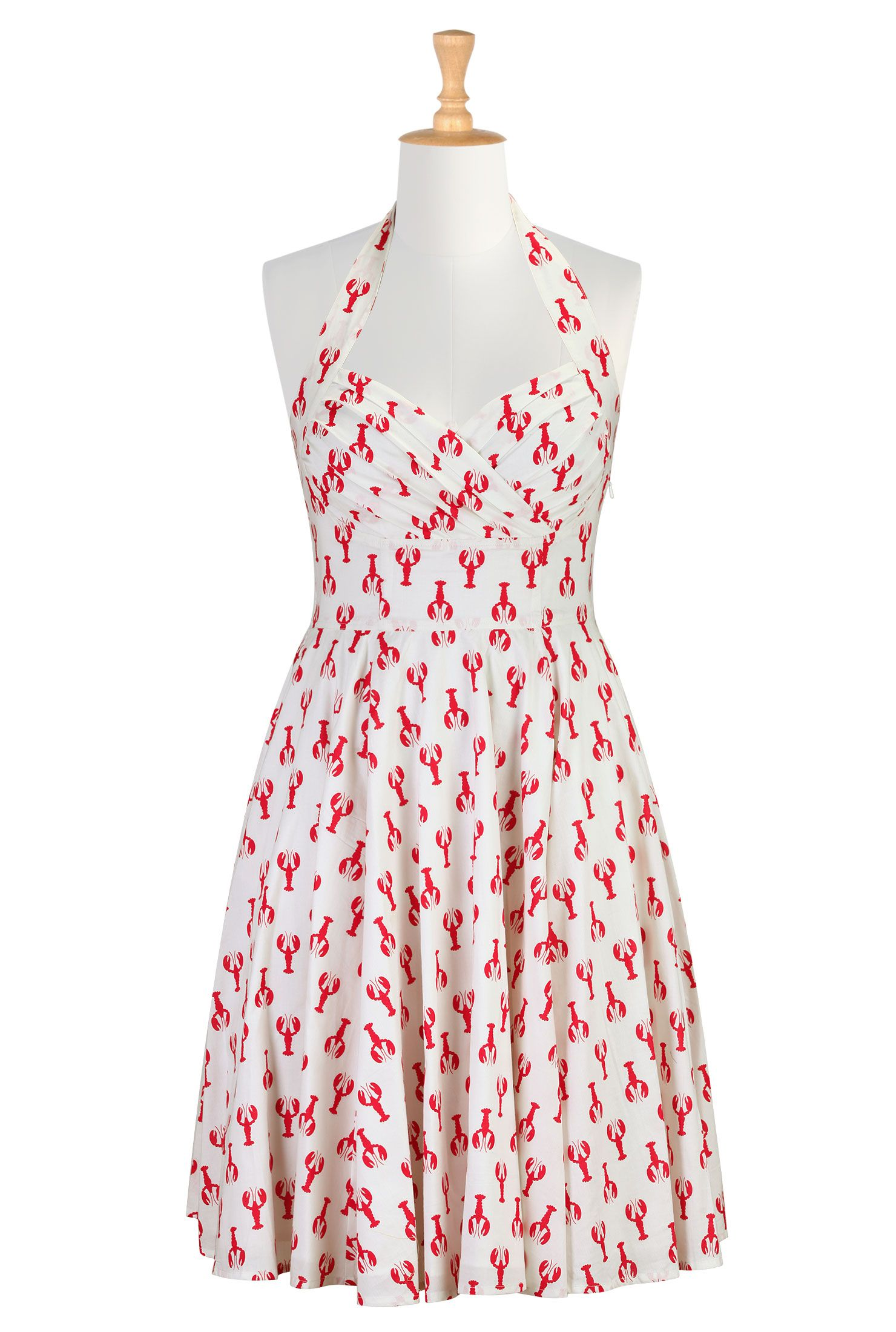 Lobster Print Dresses Fun Cotton Sundresses Shop Womens