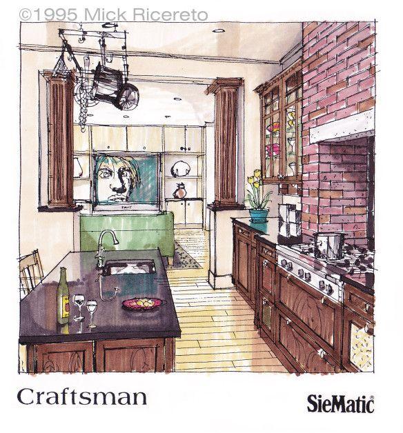 Kitchen Design Rendering: CONCEPT DRAWING & RENDERING