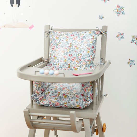 Combelle High Chair Cushion Pad Liberty Betsy By LittleCloudUk