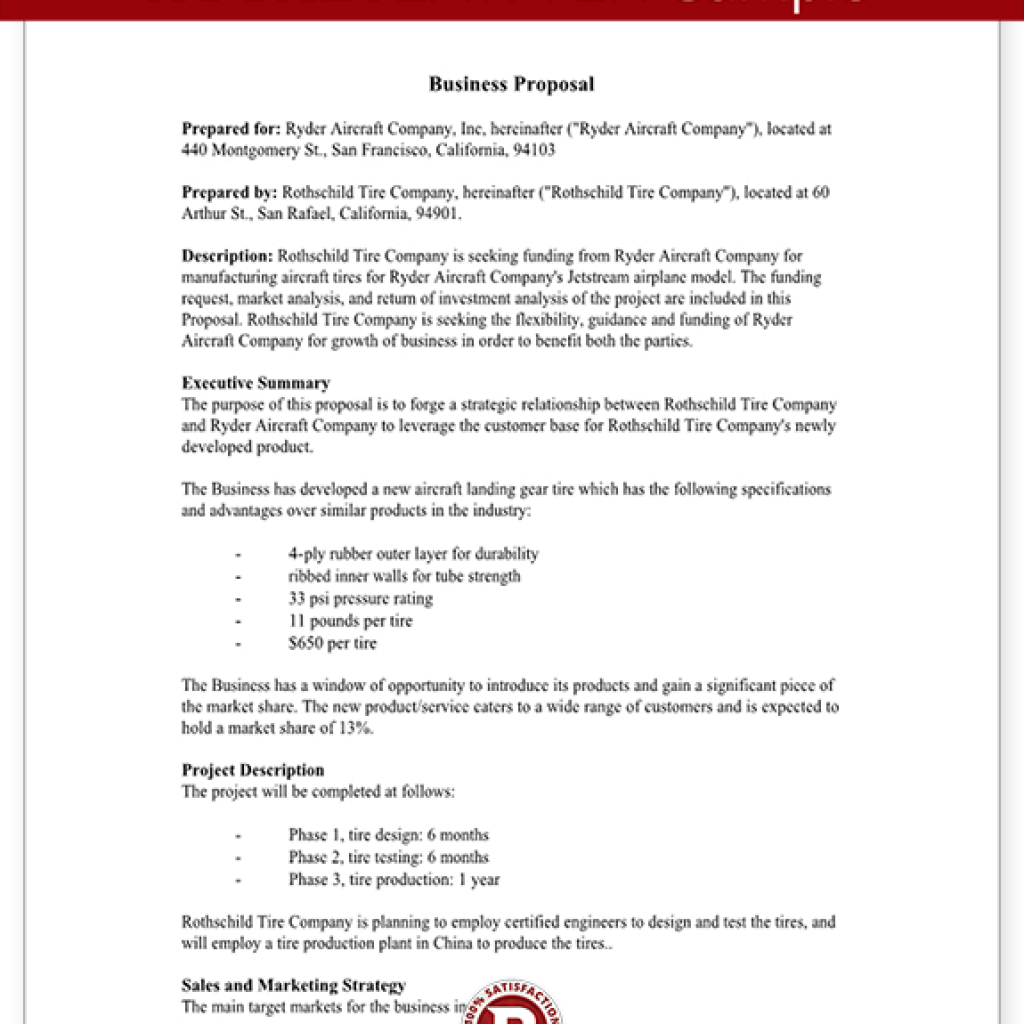 Free Business Proposal Template Download Information Security