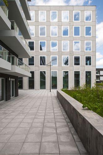 Office. Housing Danon Lille by KAAN Architecten. Pic @svd_fotografie