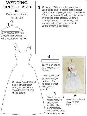 STUDIO 3D - WEDDING DRESS CARD
