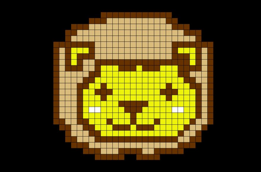 lion pixel art from brikbook com lion cute animal bigcat