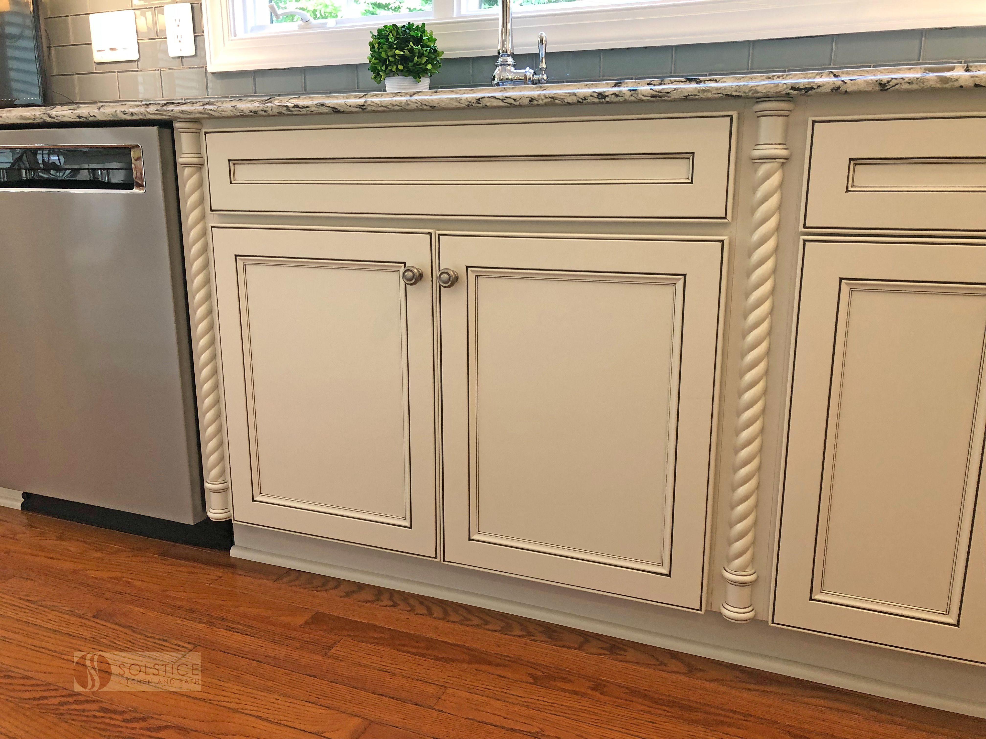 This Kitchen Design In Crownsville Includes Homecrest By Masterbrand Cabinets With Storage Including T Wine Glass Storage Kitchen Glass Subway Tile Backsplash