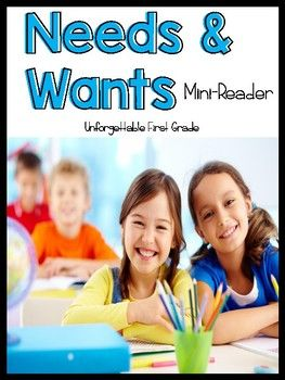 Needs & Wants Mini-book is a fun way to teach your kiddos all about needs and wants. These can help supplement your science instruction.