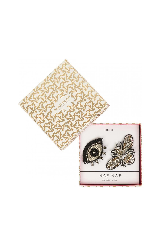Coffret Lot De Deux Broches Insecte Et Oeil Noir Ceintures
