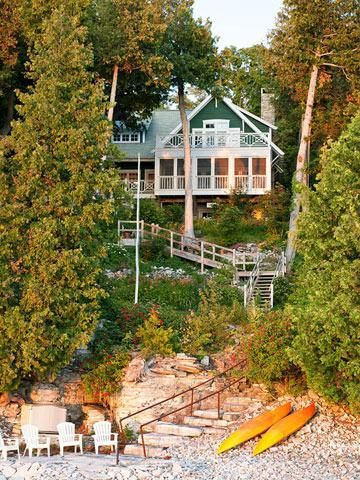 House Tour New Cottage With Vintage Style Door County Wisconsin