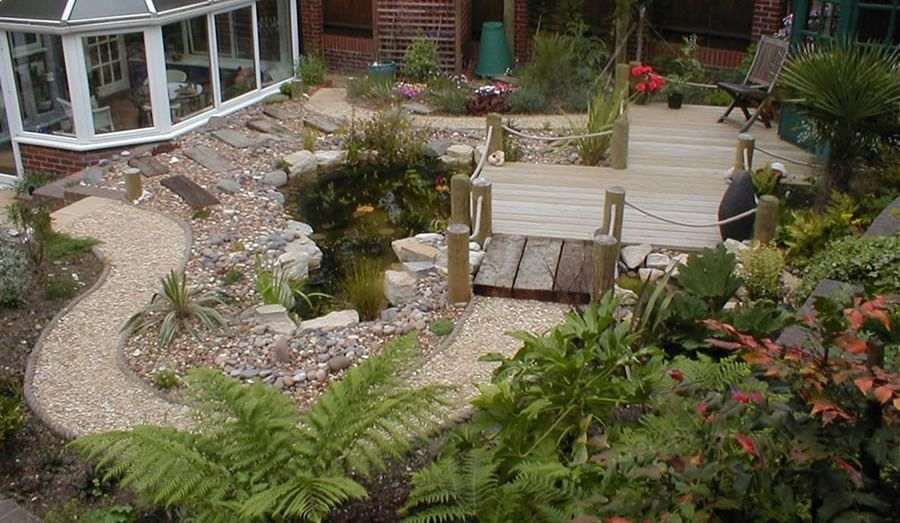 Sloped Backyard Landscaping Ideas Gardens On Different Levels