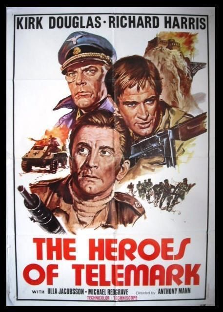 Image result for the heroes of telemark poster