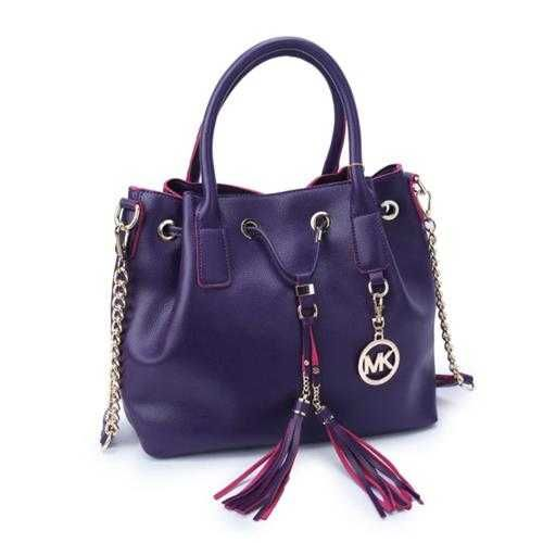 Michael Kors Jules Drawstring Medium Purple Shoulder Bags