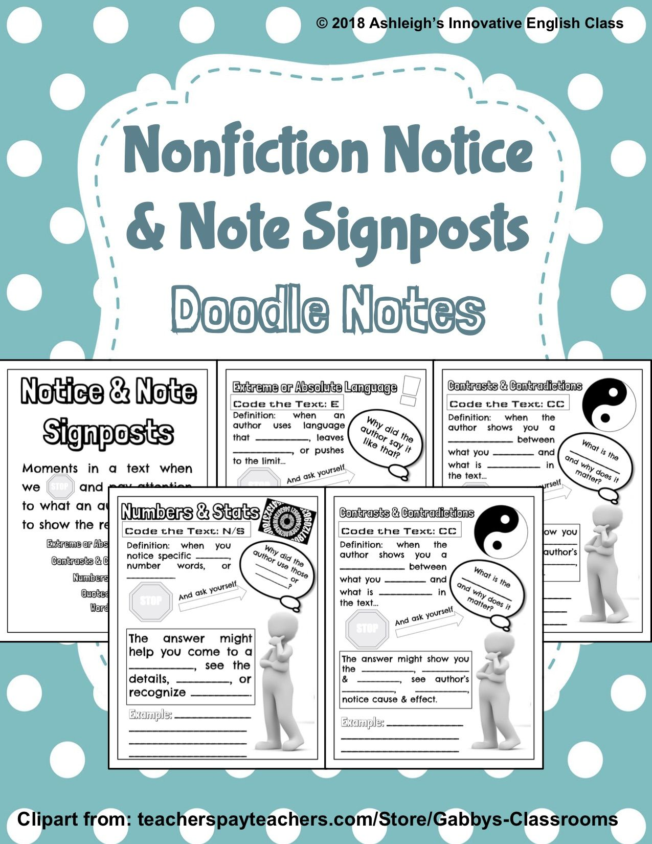 Nonfiction Notice Amp Note Signposts Doodle Notes