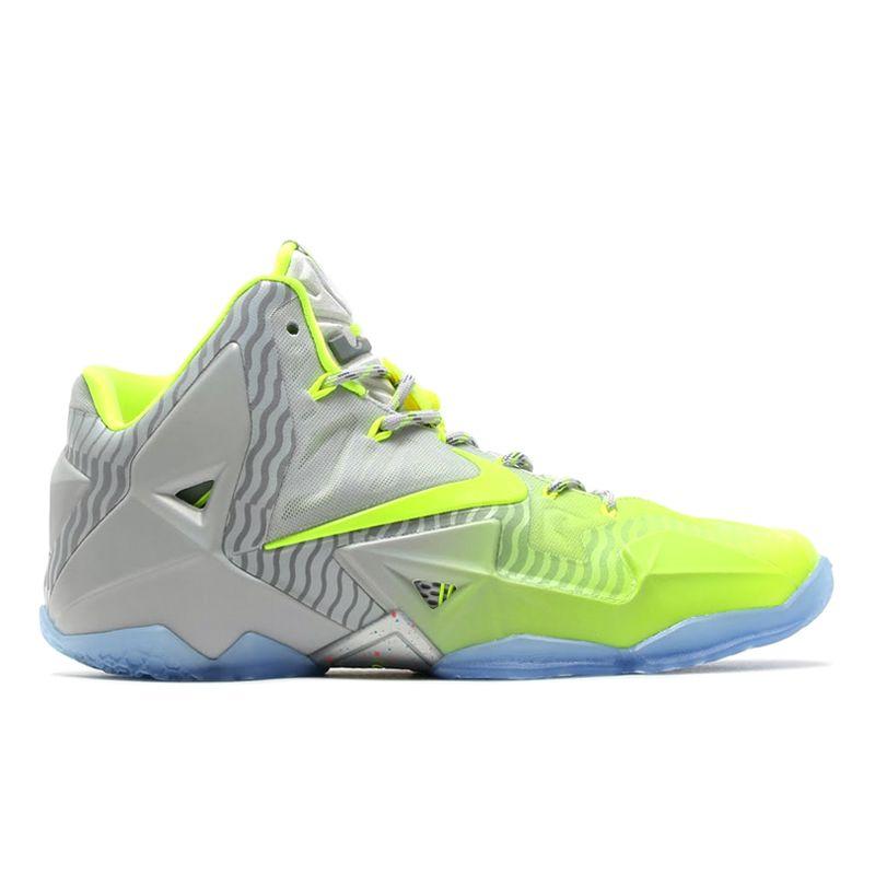 uk availability 56b19 1ddbc  Nike LeBron XI Metallic Luster Volt-Ice  sneakers