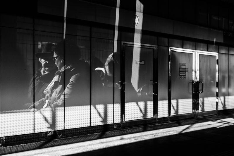 Oh Vienna . 2015 . 036 . #Vienna #streetphotography #photography #blackandwhite #reflection #subway