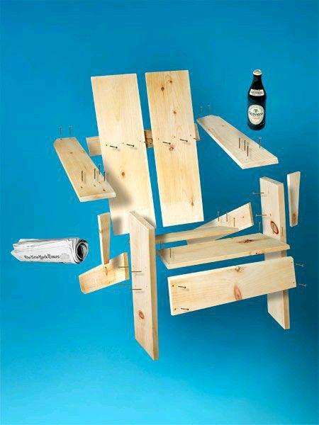 Silla orendirak muebles trucos con madera en 2019 for Sillones de madera reciclada