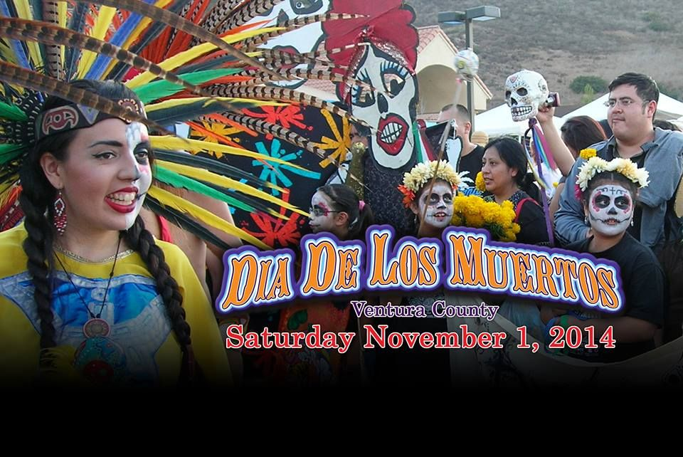 Ventura, CA ~ Dia De Los Muertos Celebration on November 1, 2014 ~ Inlakech Cultural Arts Center offers free family workshops in September and October including papel picado, death masks, altar building and more!  #DiaDeLosMuertos #DayOfTheDead