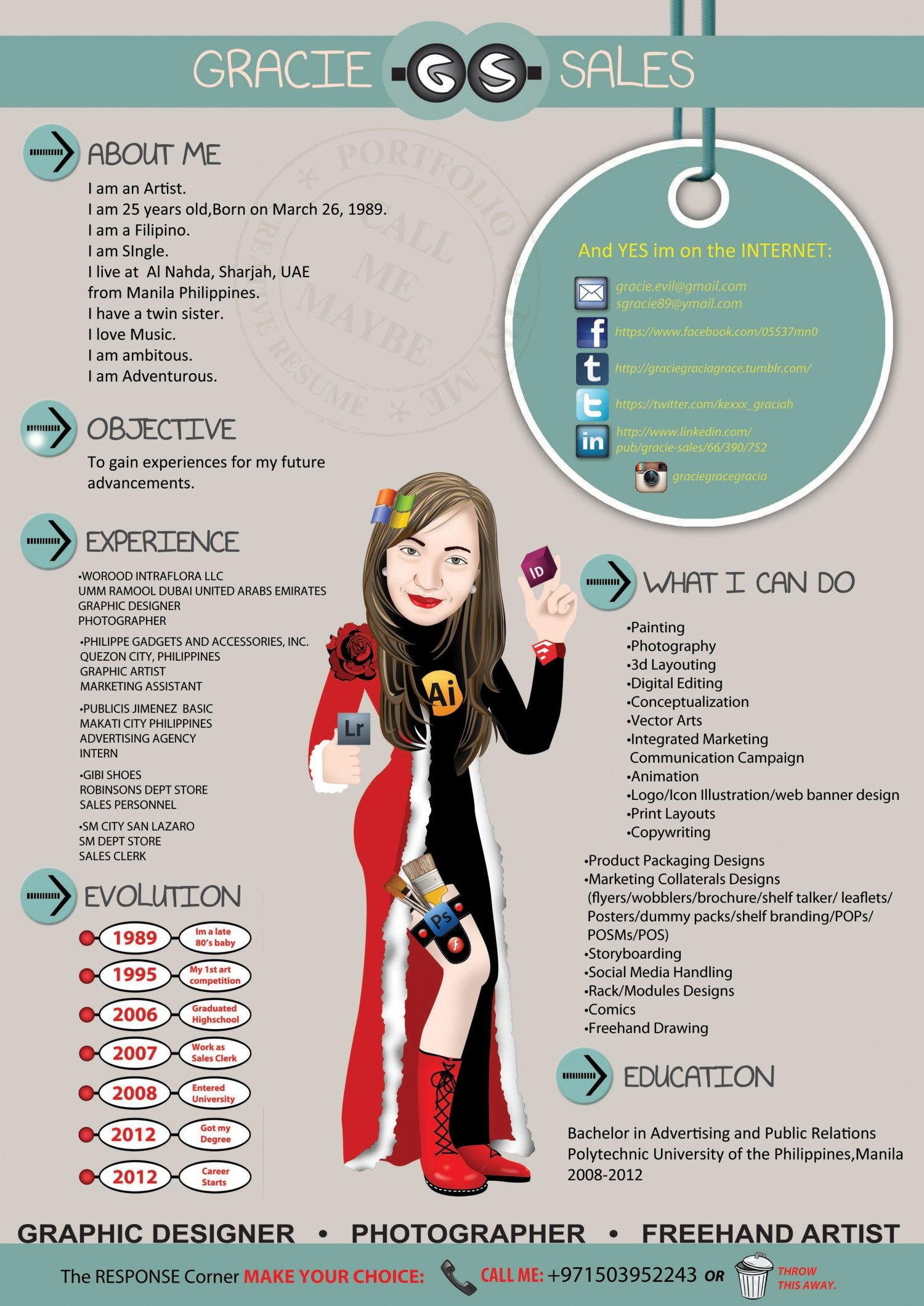 my creative resume infographic