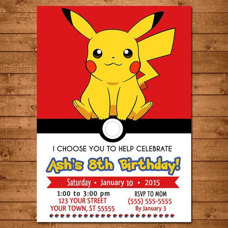Birthday Stunning Pokemon Pikachu Birthday Party Invitation Pok Convites De Aniversario Para Criancas Convites De Festa De Aniversario Festa Pokemon Decoracao