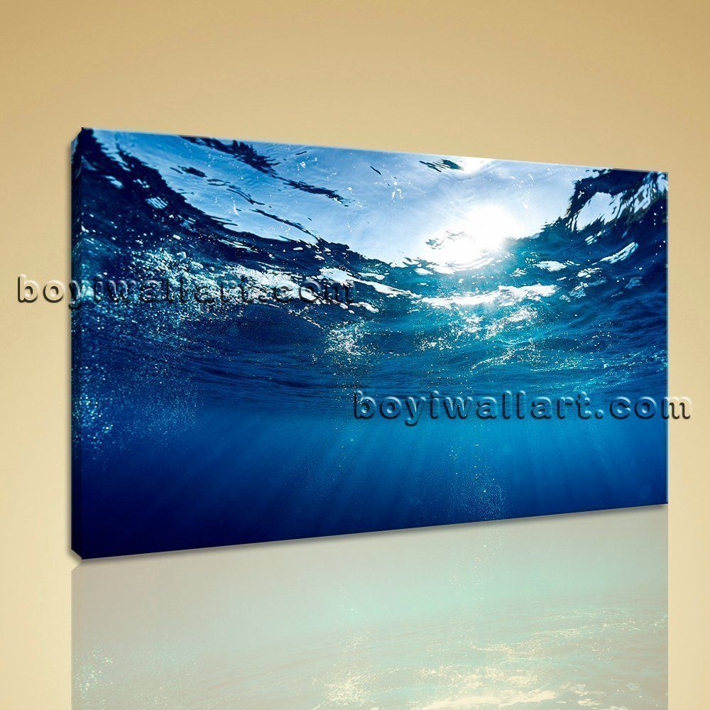 Modern abstract wall art seascape sea wave picture hd print for