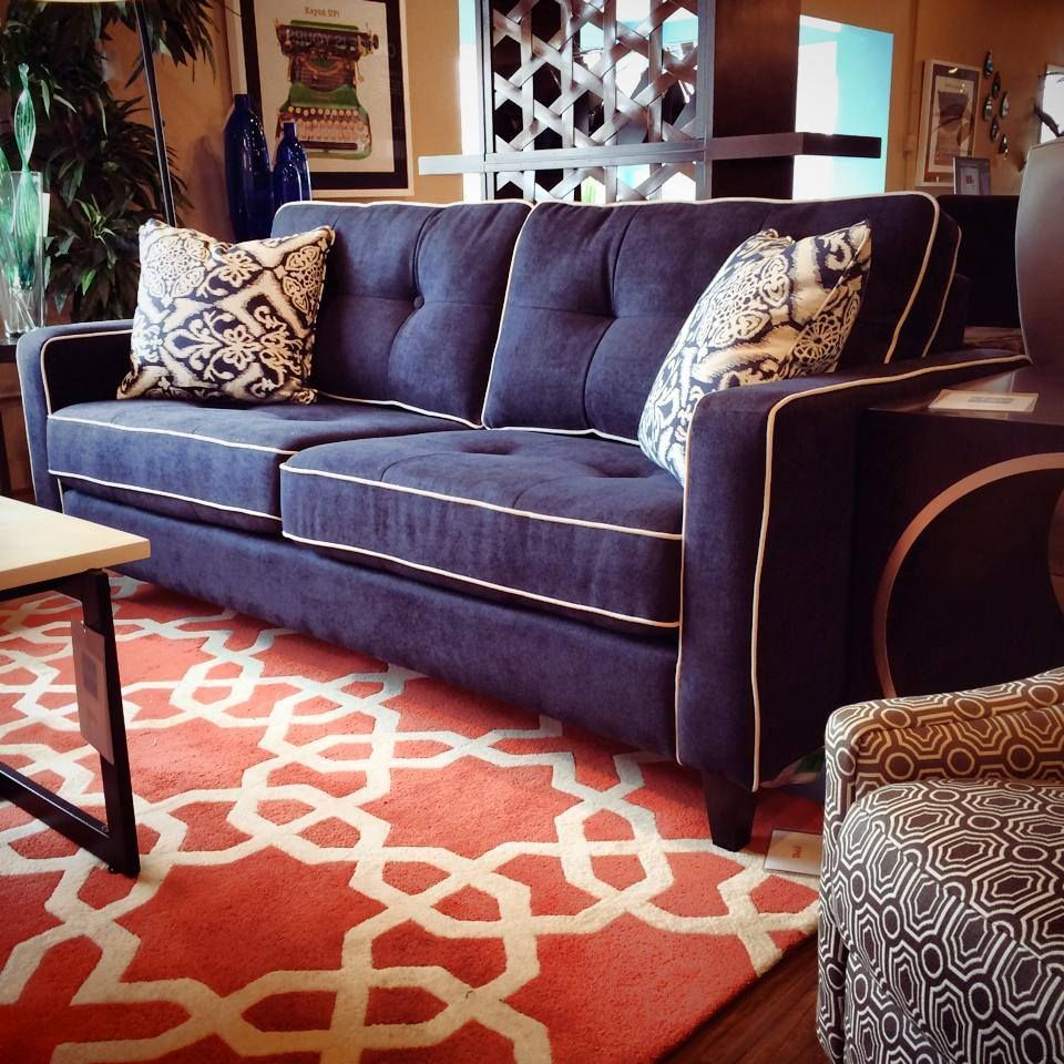 Throw Rugs On Sofas: Check Out The Contrast Of This Orange Geometric Area Rug