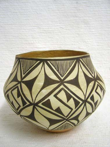 Native American Acoma Handbuilt and Handpainted Bowl by Unknown Potter