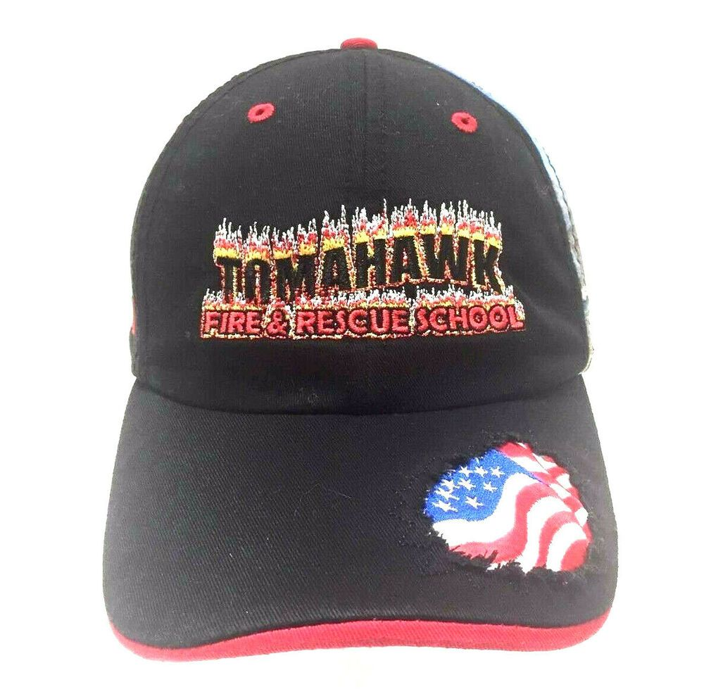 Fire Rescue School Hat Cap Black Slideback Usa Flag Tomahawk First Responders Strategies Baseballcap Casual In 2020 Usa Flag Atlanta Braves Hat Unique Hats