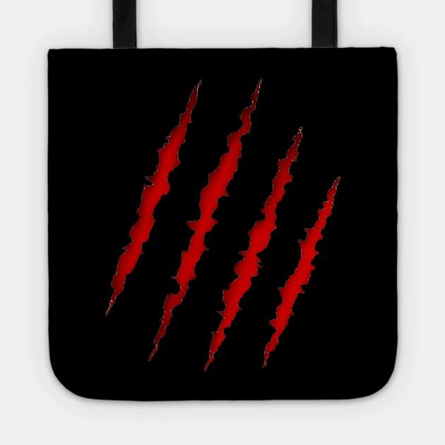 Claw Slash Claw Tote Teepublic Unique Tote Bag Tote Bags
