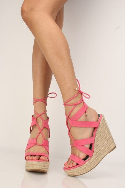 7b3a9f297 Coral Espadrille Lace Up Wedges #AD | Holiday Decoration Ideas ...