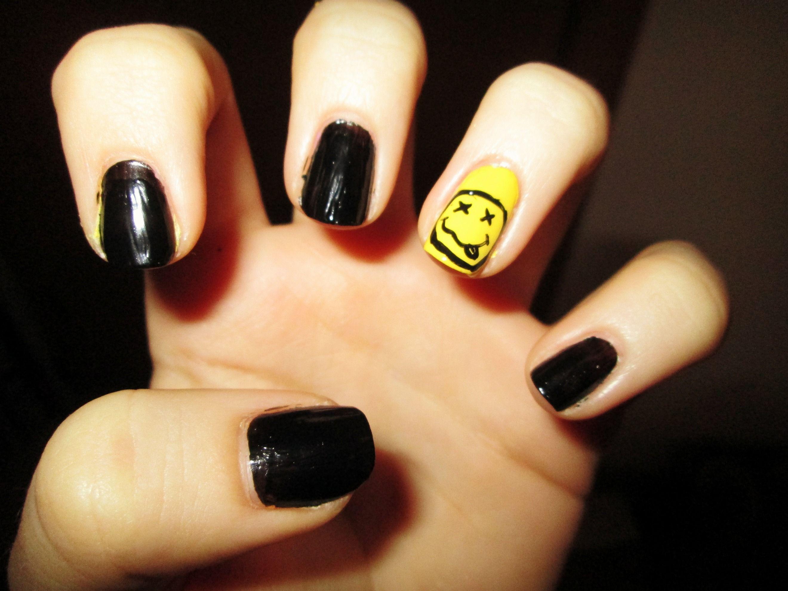 Nirvana #nails #nailart #nirvana | My own nail stuff. | Pinterest ...