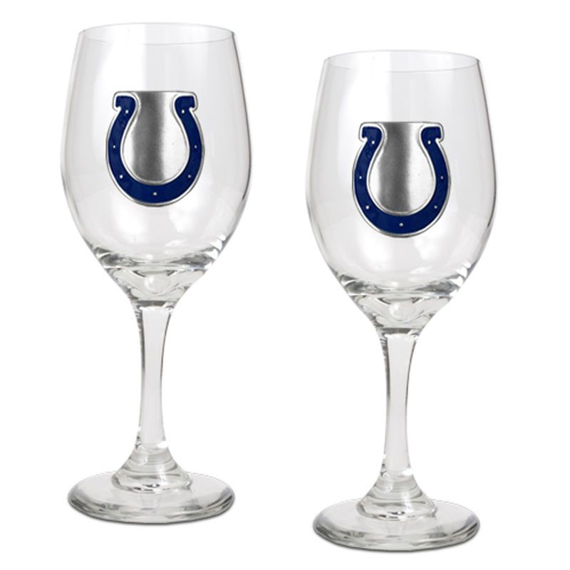 Indianapolis Colts 14oz Wine Glass Set Wine Glass Set