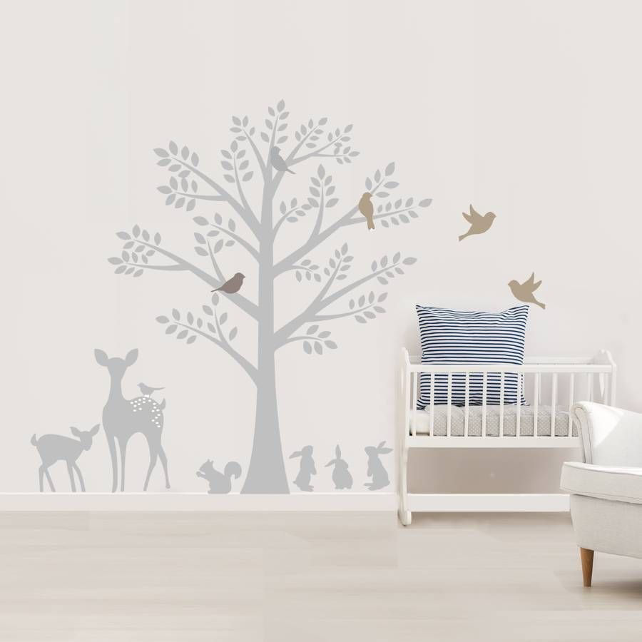 Awesome Are You Interested In Our Vintage Woodland Wall Stickers? With Our Woodland  Tree Fabric Stickers Part 19