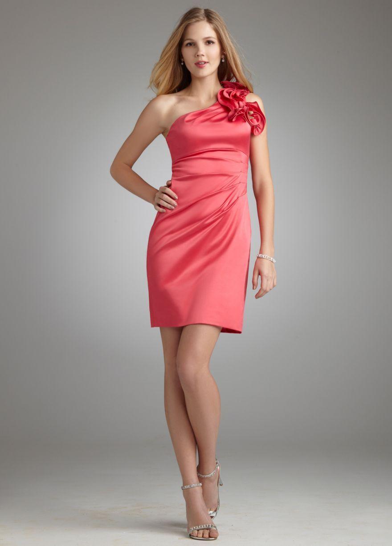 one shoulder bridesmaid dresses satin