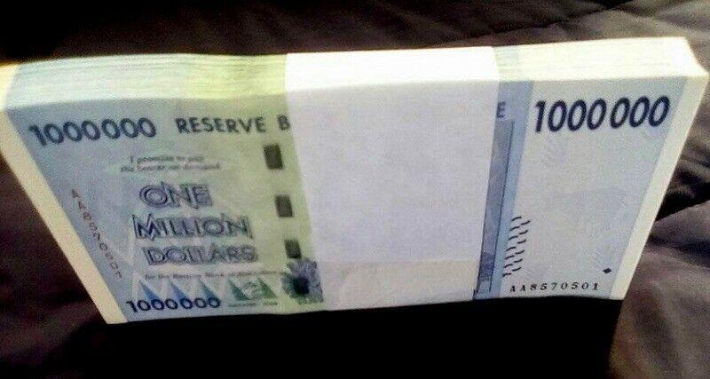 paper currency bundles 300 x Zimbabwe banknotes-100 x 1,5,/&10 Billion Dollars