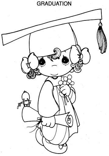 Graduation Precious Moments Coloring Pages | Color sheets ...
