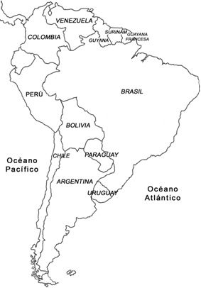 mapa de sudamerica para colorear - Selo.l-ink.co