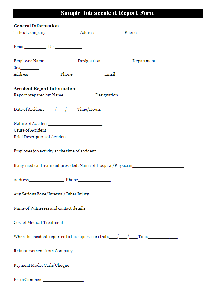 accident report form - Google Search   accident form