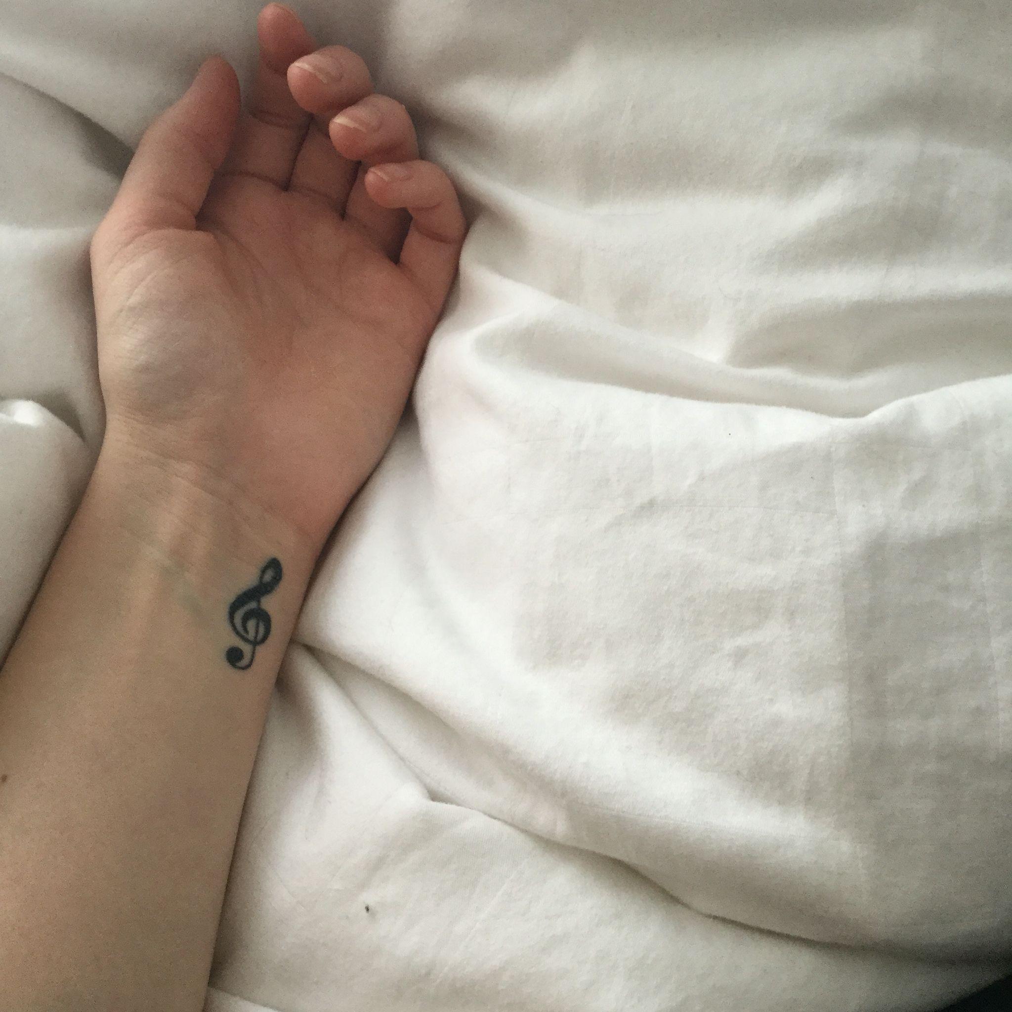 My treble clef tattoo. Music note
