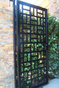 A Solid Steel Gate Across A Home S Front Porch Or Driveway