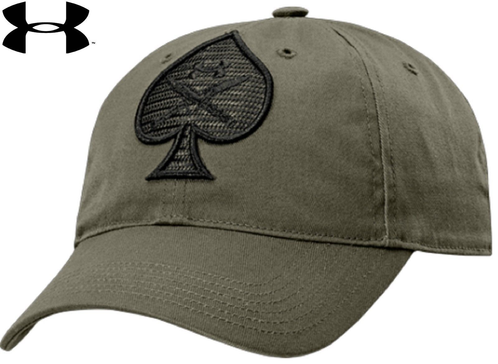 c41fb6e7fc13d9 Under Armour Tactical Spade Hat - UA Men's Black or OD Adjustable Baseball  Cap