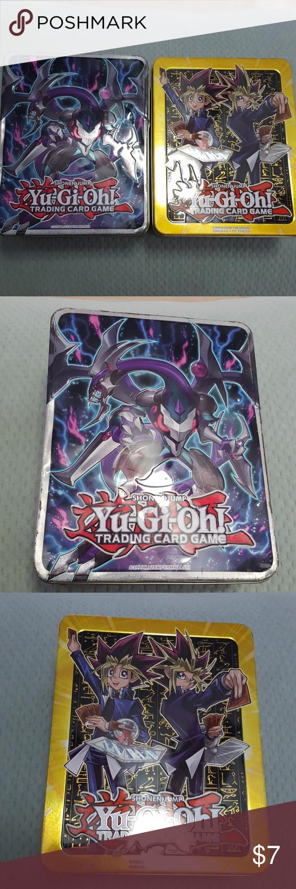 6 empty yugioh tin card holder  yugioh card holder