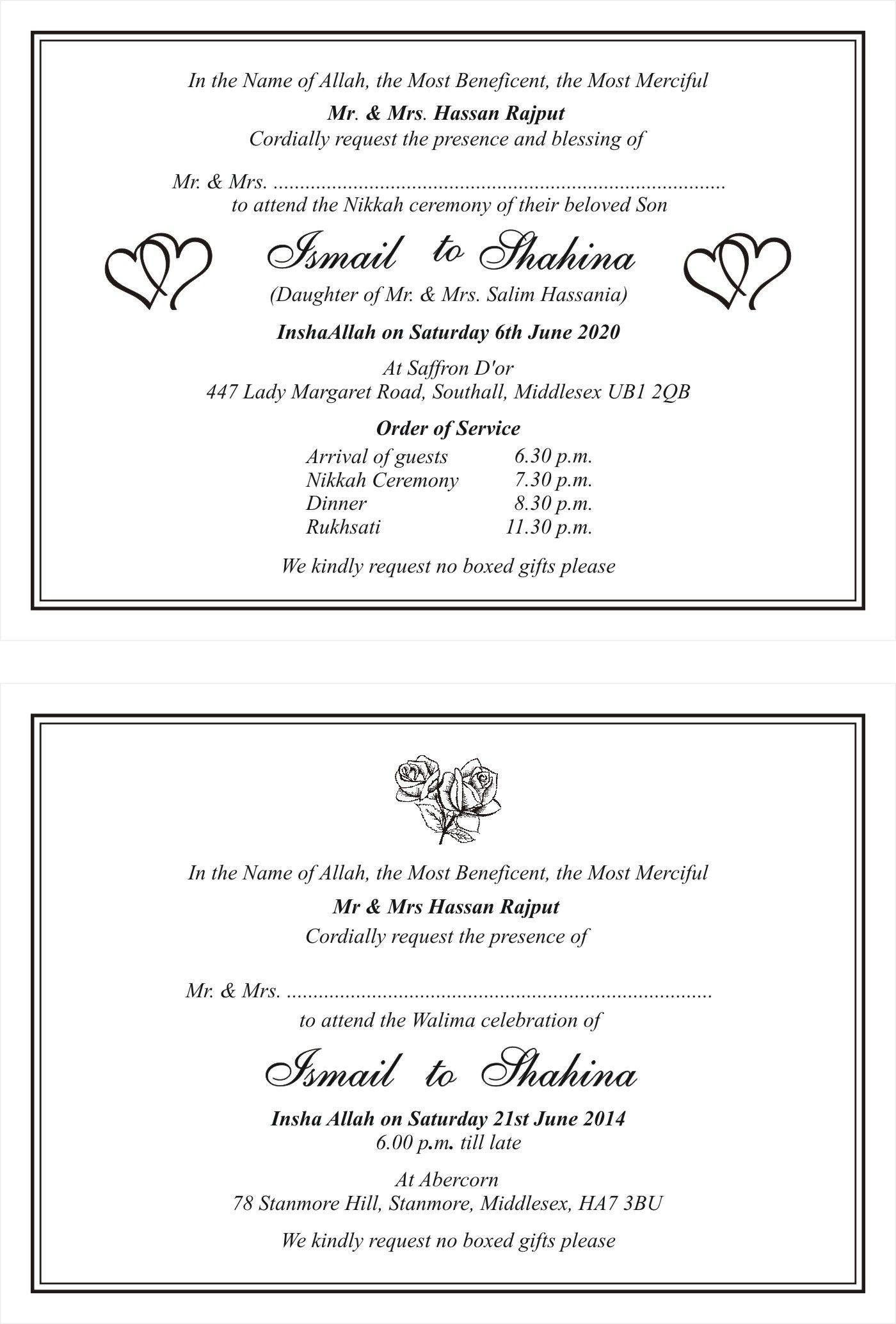 Shadi Invitation Card With Regard To Wedding Ideas Di 2020