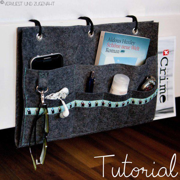 Bett-Utensilo (Bedside Caddie | DIY - Do it yourself | Pinterest ...