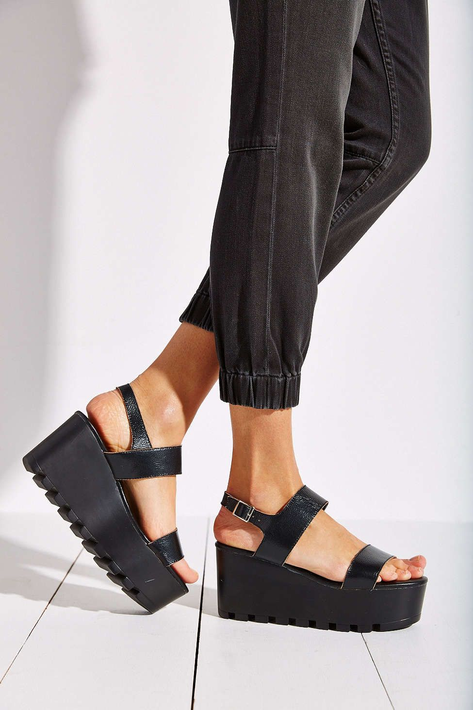 Black sandals grunge - Sixtyseven Amber Platform Sandal