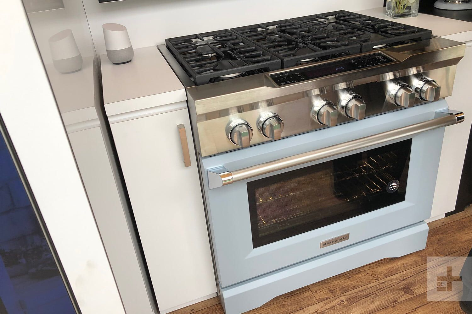 Kitchen Aid Range In Powder Blue In Line With The Very Popular