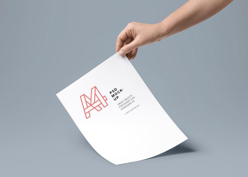 Hand Holding Paper Mockup Free Psd Paper Mockup Business Card Mock Up Mockup Free Psd