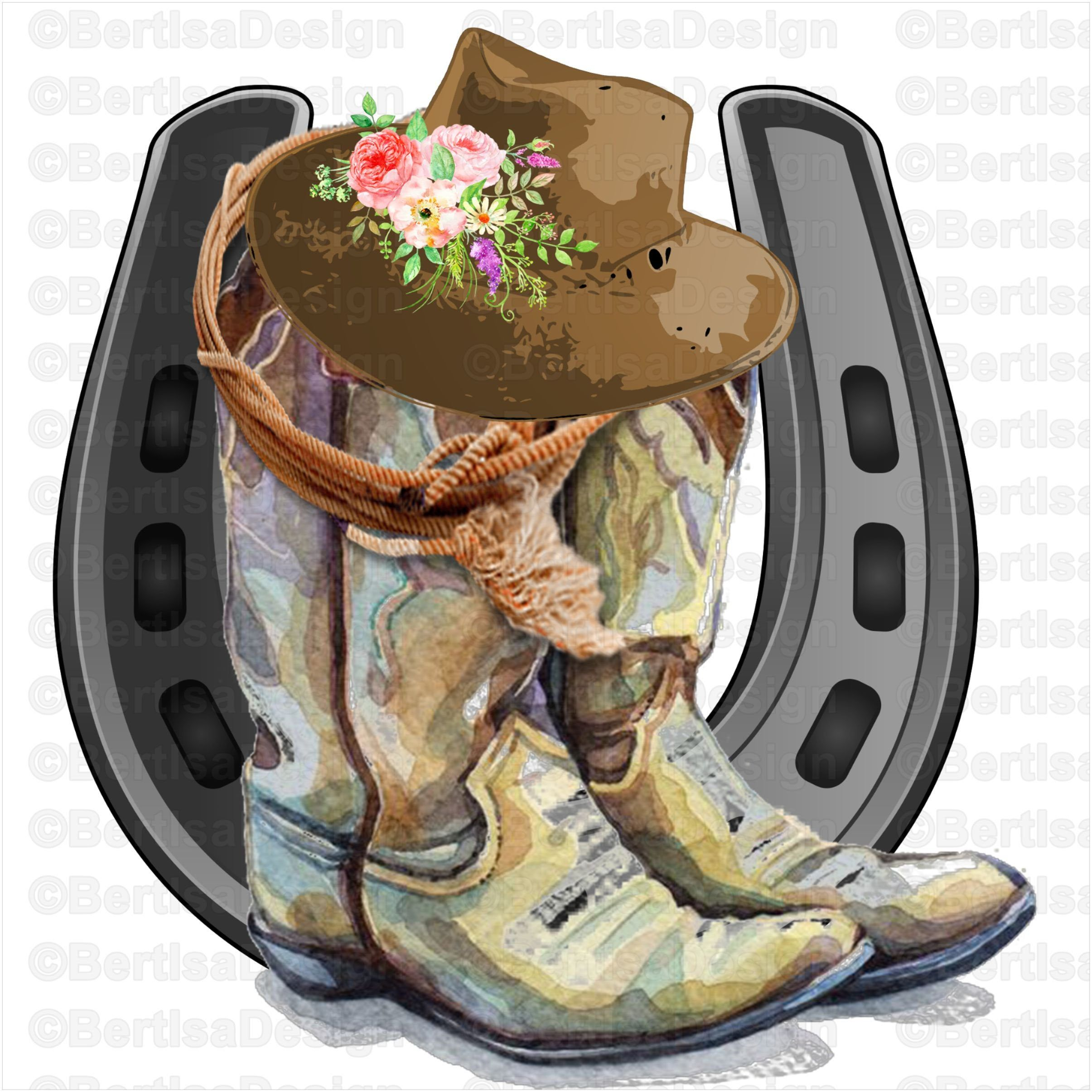 Watercolor Cowboy Boots Sublimationcowboy Hat Clip Art Horse Etsy Cowboy Boots Drawing Clip Art Horse Etsy
