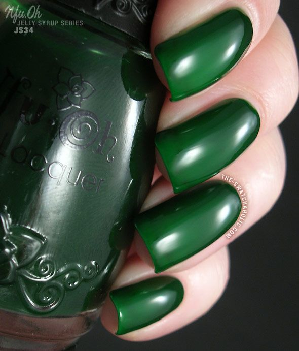Nfu Oh Jelly Syrup Series JS34-Medium Forest Green Jelly