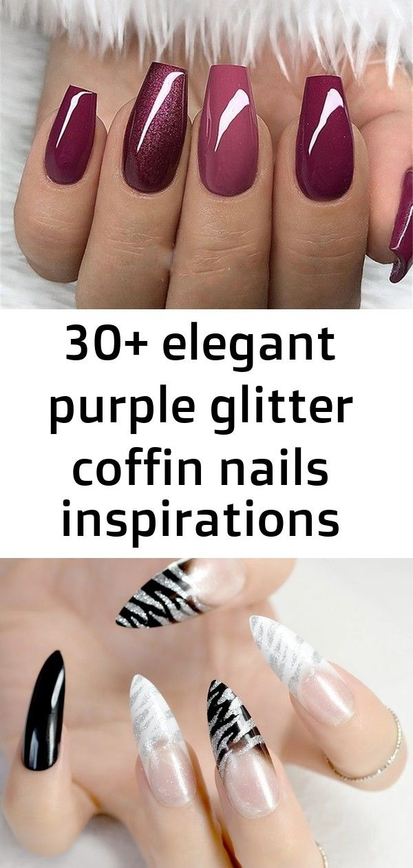 30+ elegant purple glitter coffin nails inspirations +tips – page 7 – chic cuties blog #acrylicnails