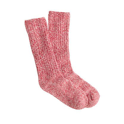 """They're the socks that put the """"old"""" in """"old-school"""" and they come from the last remaining sock mill in Vermont. These all-weather camp socks are a winter tradition that's perfect for lining your wellies or adding coziness to storm-busting boots. <ul><li>Cotton/acrylic with a hint of stretch.</li><li>Machine wash.</li><li>USA.</li></ul>"""