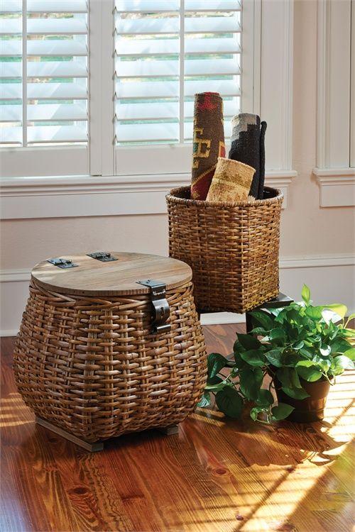 Covered Basket & Planter (Set of 2)